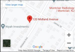 montclair - map
